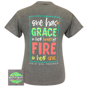 Girlie Girl Grace & Fire SS Tee Graphite