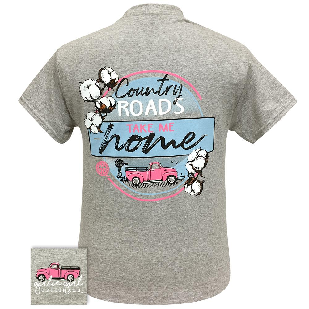 Girlie Girl Country Roads SS Tee Grey