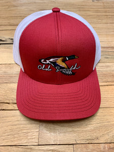 Old South Flying Mallard Trucker Hat Red/White
