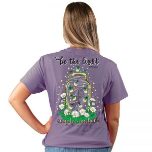 Simply Southern Light SS Tee Plum