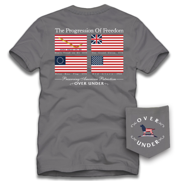 Over Under Progression Of Freedom Tee