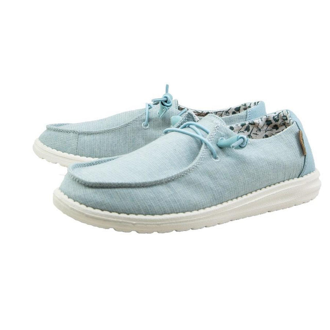 Hey Dude Wendy Chambray Shoe Azure Blue