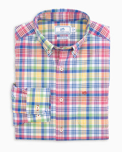 Southern Tide Long Sleeve Overhaul Madras Sportshirt
