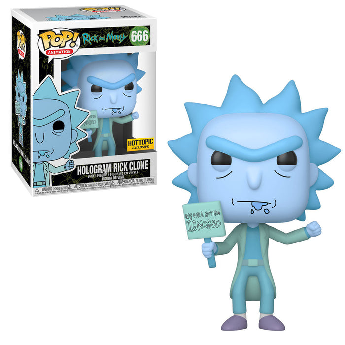 Hologram Rick Clone Hot Topic Exclusive