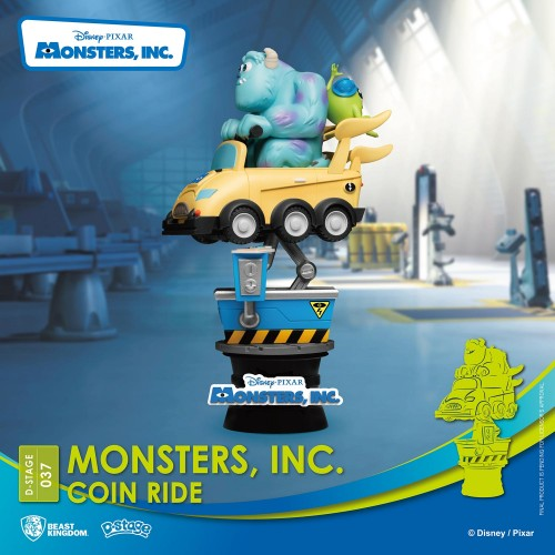 Disney Coin Ride Series D-Stage PVC Diorama Monsters Inc