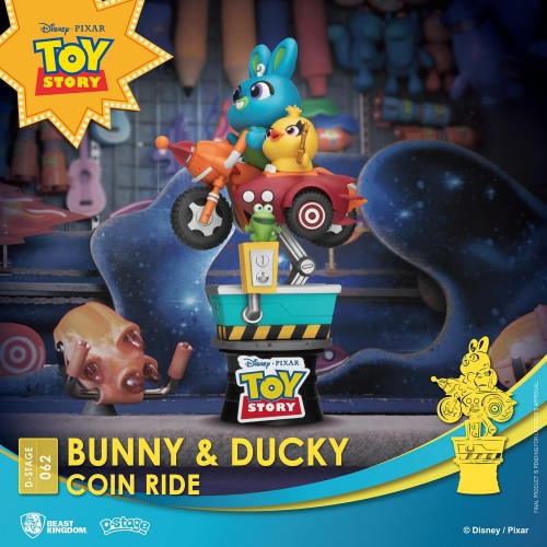 Disney Coin Ride Series D-Stage PVC Diorama Bunny & Ducky