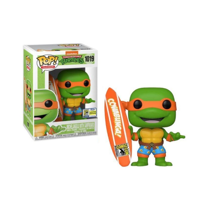 Michelangelo with Surfboard SDCC 2020: Official Con sticker