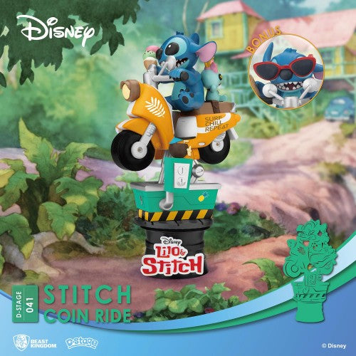 Disney Coin Ride Series D-Stage PVC Diorama Stitch