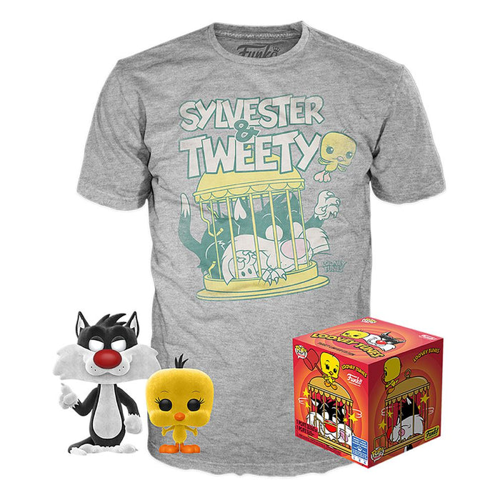 Sylvester & Tweety Flocked Pop & Tee
