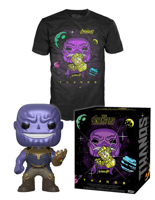 Avengers Infinity War Metallic Thanos Pop & Tee