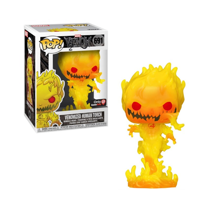 Fantastic 4 Metallic Venomized Human Torch Glow: Gamestop exclusive