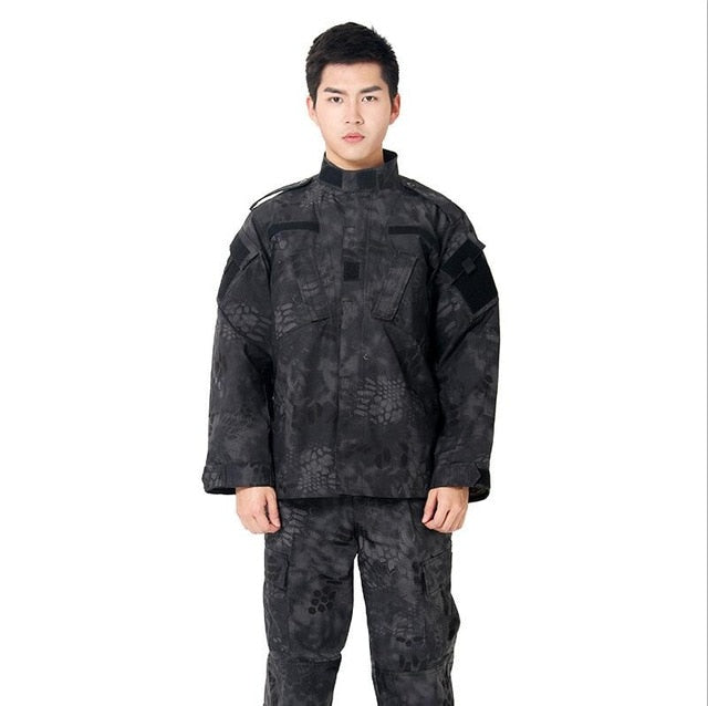 Adult Black Pattern Tactical Combat Uniform - vtarmynavy