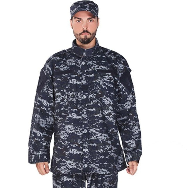 Adult Blue Tactical Combat Uniform - vtarmynavy