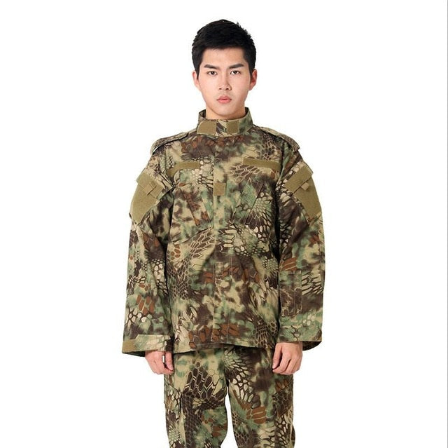 Adult Green and Brown Tactical Combat Uniform - vtarmynavy