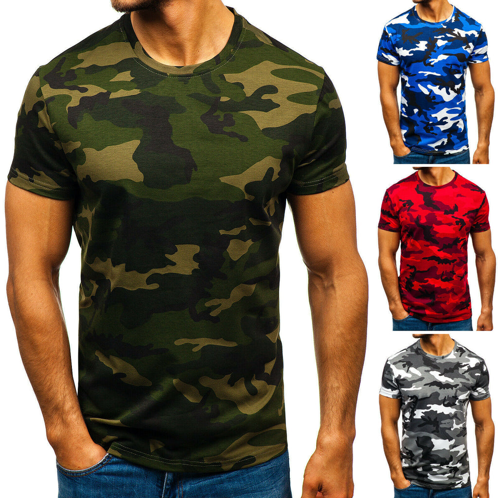 Mens Green Short Sleeved T-Shirt - vtarmynavy
