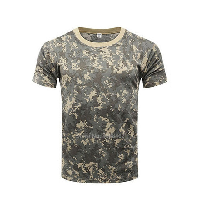 Mens Green/Cream Camo Combat Shirt - vtarmynavy