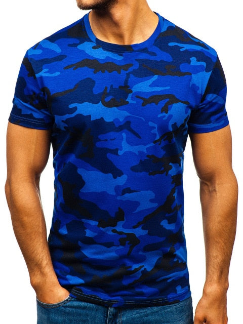 Mens Dark Blue Short Sleeved T-Shirt - vtarmynavy