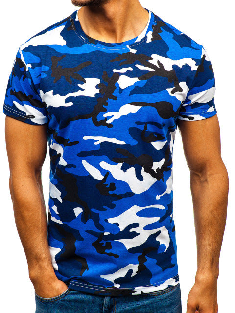 Mens Blue Short Sleeved T-Shirt - vtarmynavy