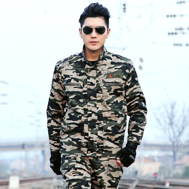 Mens Brown and Green Military Uniform - vtarmynavy