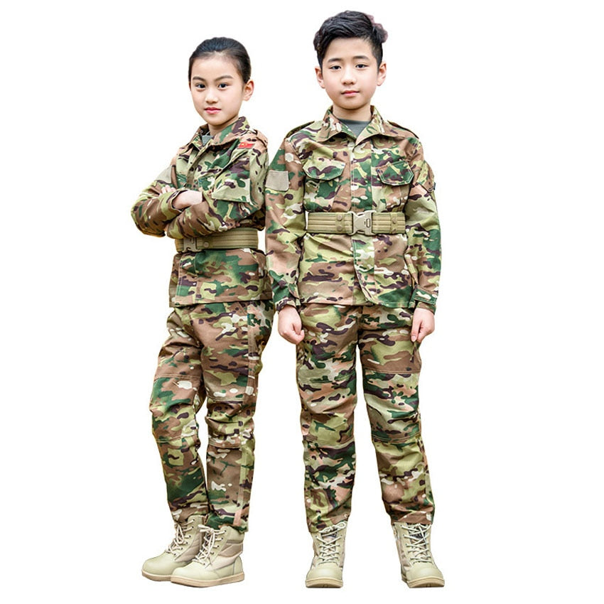 Teens Camouflage Army Suit - vtarmynavy