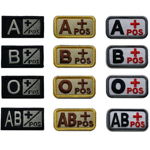 Blood Type Badges - vtarmynavy