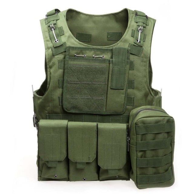 Tactical Green Military Vest - vtarmynavy