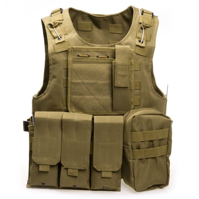 Tactical Brown/Green Military Vest - vtarmynavy