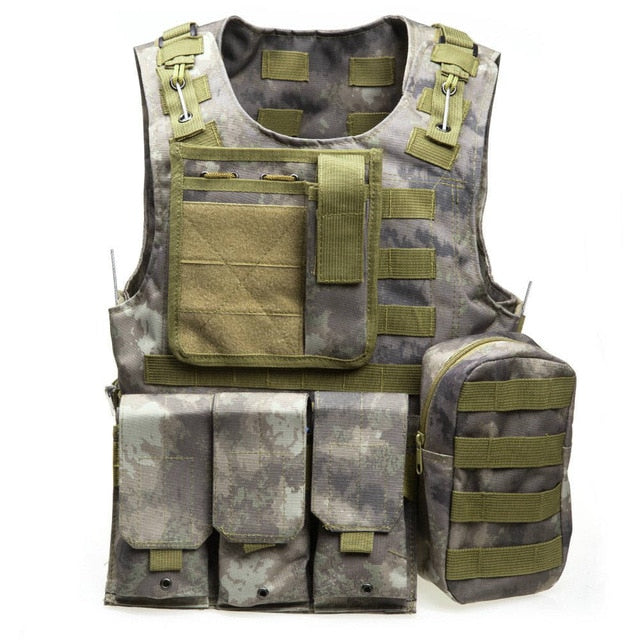 Tactical Grey/Green Military Vest - vtarmynavy