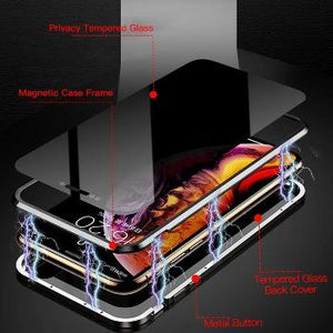Finally we have the  perfect solution for you in our Anti-peek Tempered Glass with Magnetic Case.  We have designed this case keeping this peek problem in mind,it is one of its kind and is very safe and secure and extremely easy to use.  Now you can move around without being concerned of someone peeking at your phone.