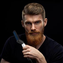 Load image into Gallery viewer, We Have an Easy solution for you in our Multi-functional Hair Straightener is the first ever men's heated straightening brush, designed exclusively to smooth out facial hair for an effortlessly soft finish.