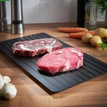 With the  Defrosting Master Tray, save yourself the headache of forgetting to take the food out of the freezer ahead of time. Our tray is the solution to eliminate last minute thawing frustration.