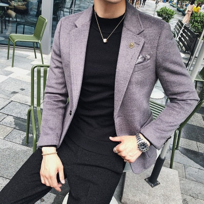 version of the slim casual thick suit jacket shirt
