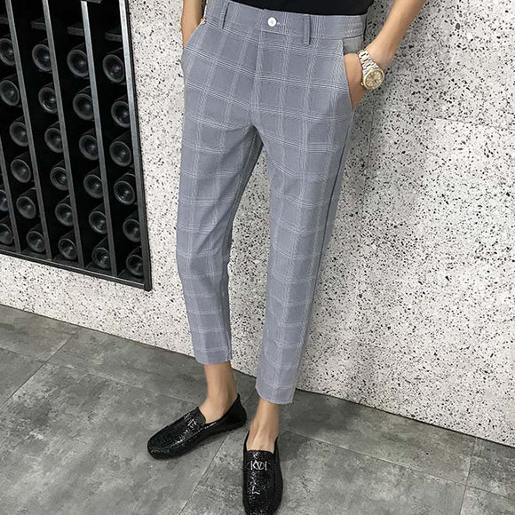 2019 new summer men's business casual nine points