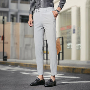 Spring Autumn England Style Men Suit Trousers