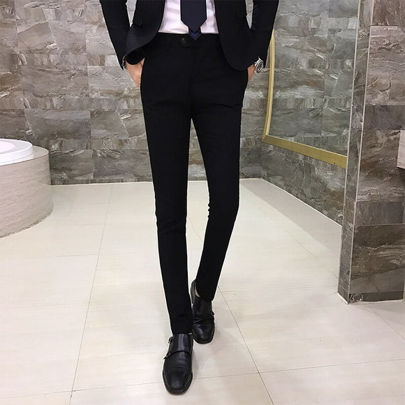 Men's Suit Pants Individuality Simple Fashion Wild Hair Stylist