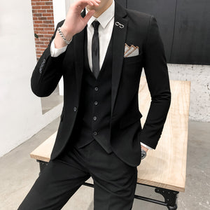 black wedding suits for men 2019 fashion brand business