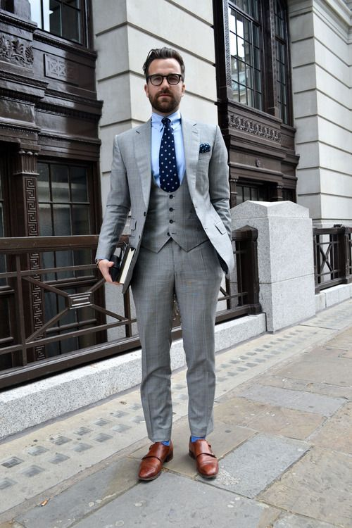 Custom Made Light Grey Suit Men Groom Wedding Suits Slim
