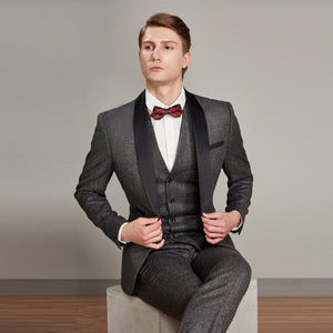 Men's Court Style Suit Three-piece Suit Formal
