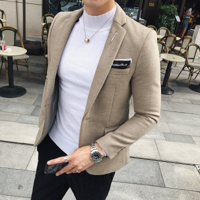 version  handsome jacket casual suit men's shirt