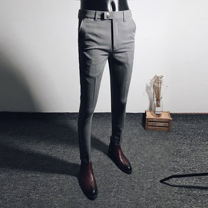 Spring business and leisure trousers men's black