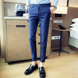 2019 New Mens Slim Fit Business Dress Pants for Men