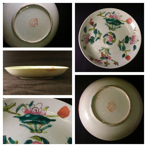 Late Qing Period Plate Four Seasons