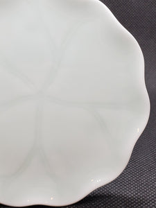 2 Celadon Lotus Leaf Shape Saucers