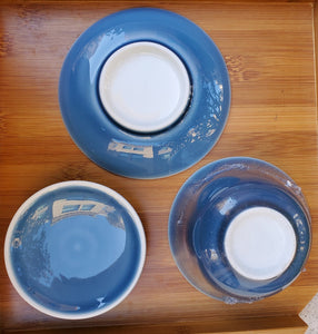Gaiwan - Pure Silver Lined - Deep Sea Blue 3 pcs - 200 ml