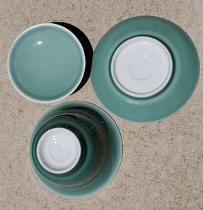 Gaiwan Pure Silver Lined - Seaweed Green 3 pcs - 200 ml