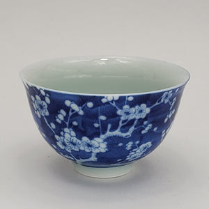 2 Blue and White Teacups - Ice Prunus #2