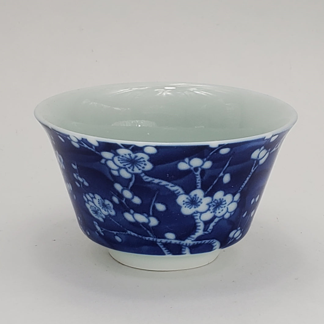 2 Blue and White Teacups - Ice Prunus