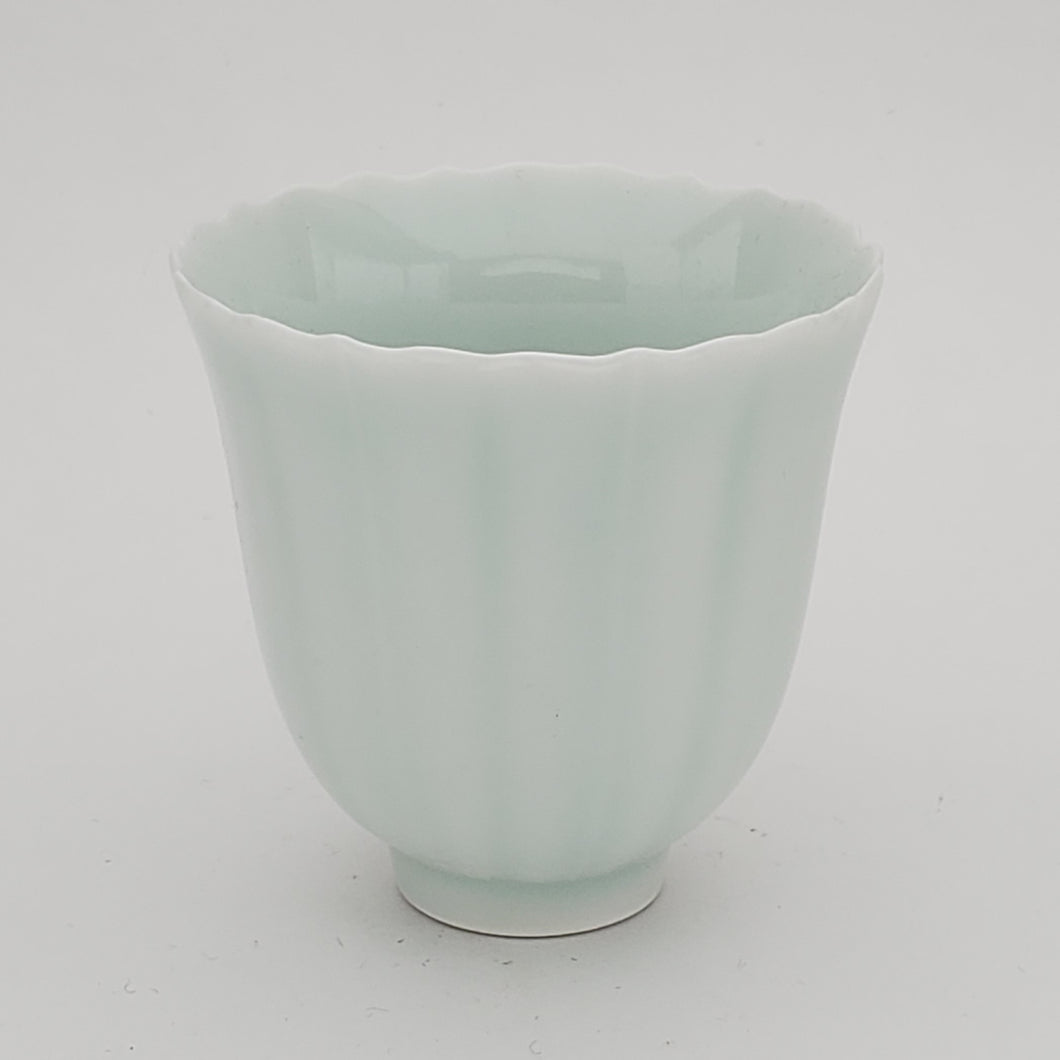 2 Celadon Teacups - Sunflower