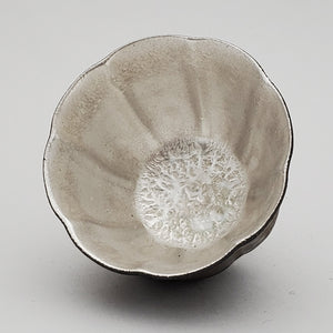 Silver Lined Metal Glaze Teacup