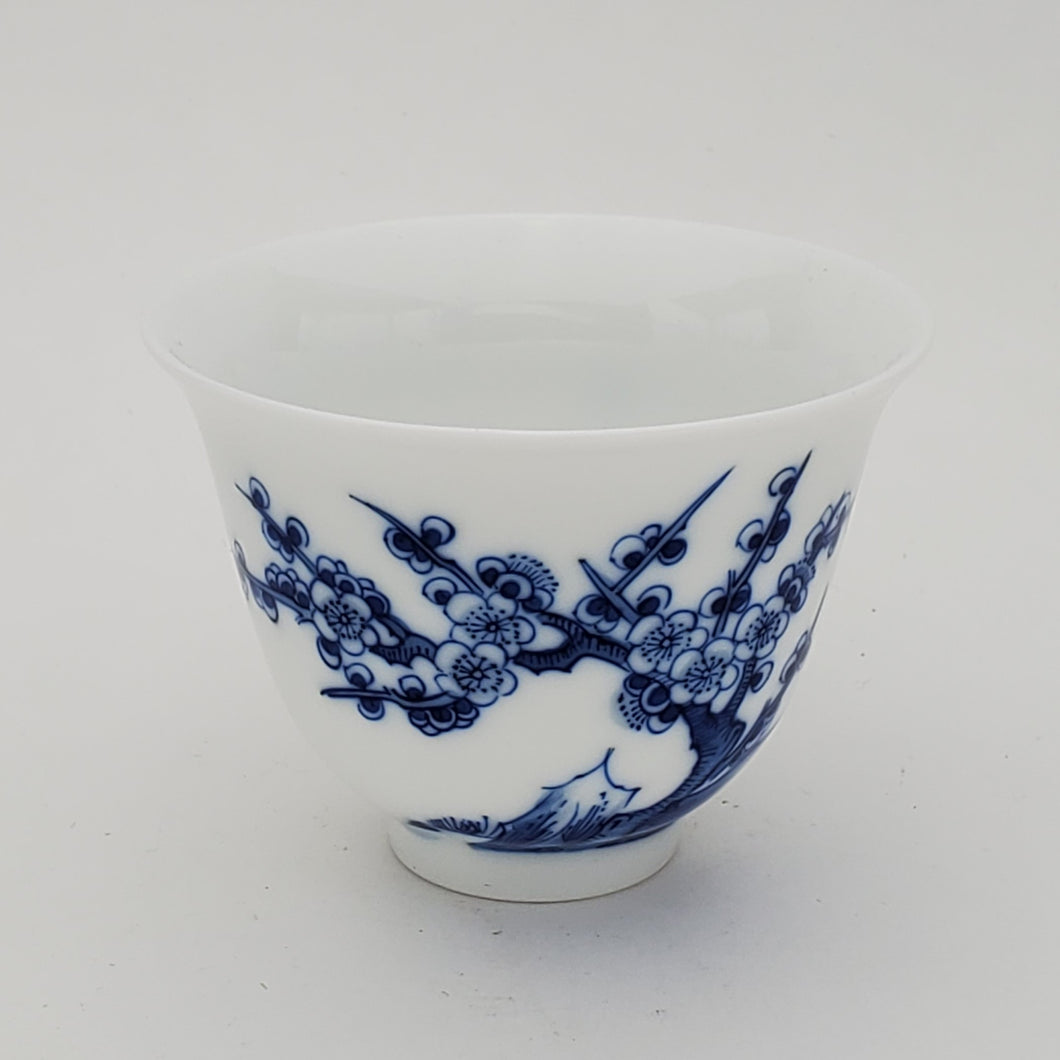 Blue and White Hand Painted Prunus Teacup